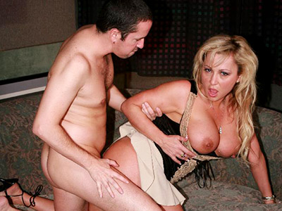 Huge racked mom gets choked with cock